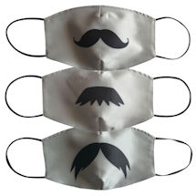 Mustache Face Masks Set of 3