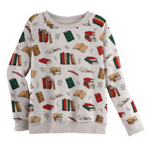 Books All Over Crewneck Sweatshirt