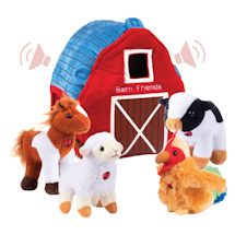 Plush Talking Toy Set - Barn Friends