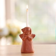 Blushing Angel Candle Holder