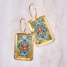 Gold Leaf Arabesque Cuff Earrings