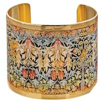 Gold Leaf William Morris Cuff Bracelet