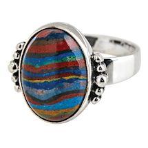Rainbow Calsilica Ring