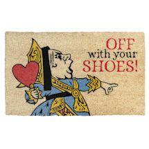 Queen of Hearts Off with Your Shoes! Doormat