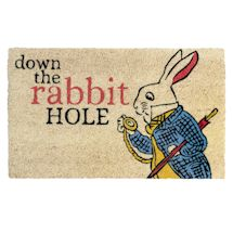 White Rabbit Down the Rabbit Hole Doormat