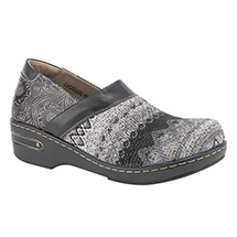 Textile and Leather Clogs - Closed-back
