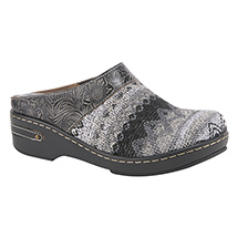 Textile and Leather Clogs - Open-back