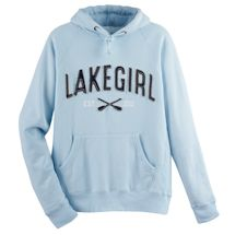 Lake Girl Hooded Sweatshirt - Powder Blue