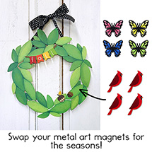 Magnetic Wreath and Metal Art Magnets