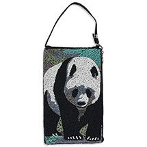 Giant Panda Beaded Crossbody Bag