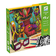 Funny Freaks 3-D Coloring Kits