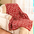 """I Love You More Cotton Throw Blanket 50"""" by 60"""""""