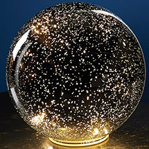 Lighted Crystal Ball - Silver