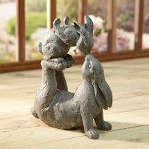 Kissing Rabbits Garden Sculpture