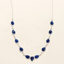 Blue Lapis Teardrop Necklace