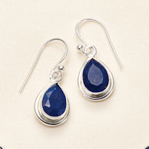 Blue Lapis Teardrop Earrings