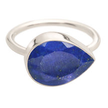 Blue Lapis Teardrop Ring
