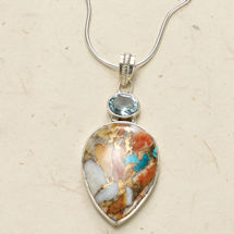 Oyster Copper Turquoise Necklace