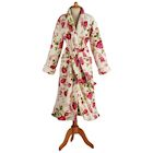 Plush Floral Wrap Robe