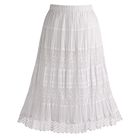 Boho Lace Trim Skirt with Silk Lining