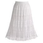 Boho Lace Trim Skirt with Silk Lining
