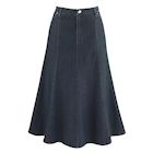 8-Gore Denim Riding Maxi Skirt