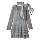 Lacey Layers 3-Pc. Tunic & Scarf Set