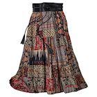 Reversible Red Desert Broom Skirt