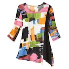 Colorful Cruise Tunic - 3/4 Sleeve