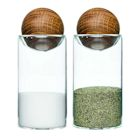 Sagaform Oak & Glass Salt & Pepper Shakers