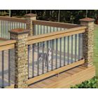 "Clear Plastic Deck Railing Shield - 180"" Long x 35"" High"