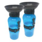 Set of 2 Highwave AutoDogMugs - Portable Water Bowl Sport Bottles for Dogs - Blue Color