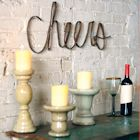 "Scrap Iron ""Cheers"" Wall Sign - 30"" x 11"""