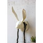 Cast Iron Rabbit Wall Hook - Antique White