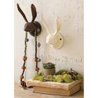 Kalalou Cast Iron Rabbit Wall Hook - Rustic