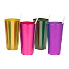 Bandwagon Aluminum Tumblers - 16 Ounce - Set of 4