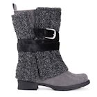 Muk Luks Women's Nikita Heel Boot - Mid-Calf Blanket Style - Brown or Gray