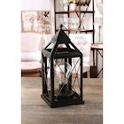 "Circleware Lantern Metal Cage Style Desk,Table, or Hanging Lamp - Cordless Accent Light with LED Bulb - 10.25"" High"