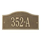 "Whitehall Personalized Cast Metal Address Plaque - Small Rolling Hills Custom House Number Sign - 12"" x 6"" - Allows Special Characters"