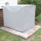 Outdoor Air Conditioner Unit Cover - Square Exterior A/C Winter Weather Protector - Gray