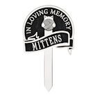 Whitehall Cat with Yarn Personalized Pet Memorial Yard Sign - Remembrance Grave Marker and Garden Stake