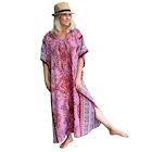 Fuschia Long Caftan