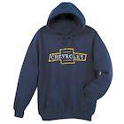 David Carey Officially Licensed Men's Chevy Bowtie Hoodie - Navy Blue Sweatshirt