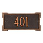 "Whitehall Personalized Cast Metal Address Plaque - Mini Roanoke 12"" x 5.75"" House Number Sign -Allows Special Characters"