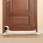 "WHAT ON EARTH Sheep Draft Dodger - Animal Shaped Weighted Door/Window Breeze and Bug Guard, Noise Reducer Draft Stopper - 36"" Long"