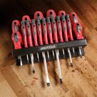 Great Working Tools 18 Piece Screwdriver Set - Magnetic Tips, Chrome Vanadium Steel Blades, Storage Rack