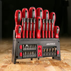 Great Working Tools 39 Piece Screwdriver Set - Magnetic Steel Tip Blades, Rack