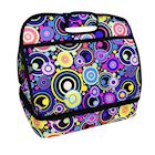Two Lumps of Sugar Insulated Double Casserole Carrier Tote - Tuna Maria Hot Food Insulated Bag - Orbit, Retro Mod Print