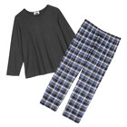 Metropolitan Women's Flannel Pajama Set - Plus Size Long Sleeve PJ Top, Bottom