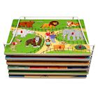 Puzzle Universe Wooden Peg Puzzles - Set of 6 Series 3 Wood Puzzles Zoo, Farm, Bugs, Shapes, Crayons, Food -Educational Toys for Kids 18 Months and Up